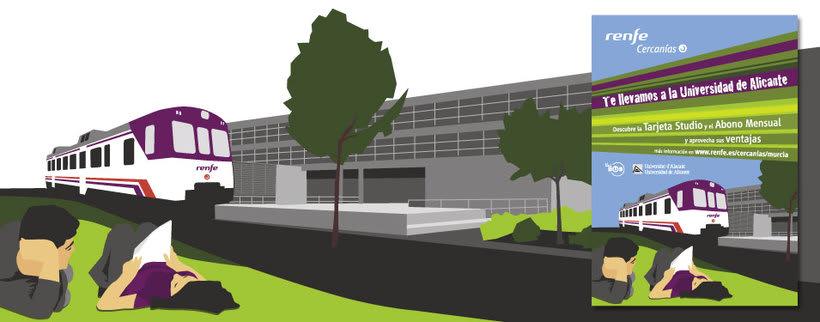 Campaña Renfe Cercanías. Promoción trayecto Alicante - Campus Universitario 1