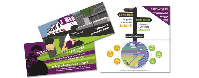 Campaña Renfe Cercanías. Promoción trayecto Alicante - Campus Universitario 2