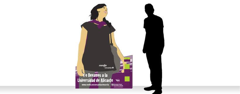 Campaña Renfe Cercanías. Promoción trayecto Alicante - Campus Universitario 3