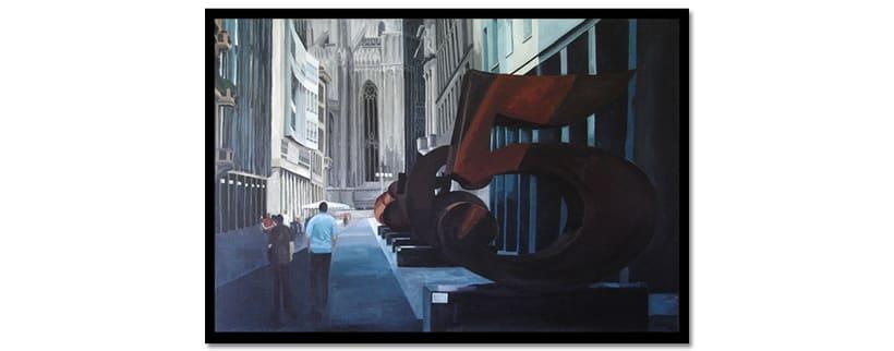 Robert Indiana en Corso Vittorio Emanuelle II (Milano). Acrílico sobre tabla -1