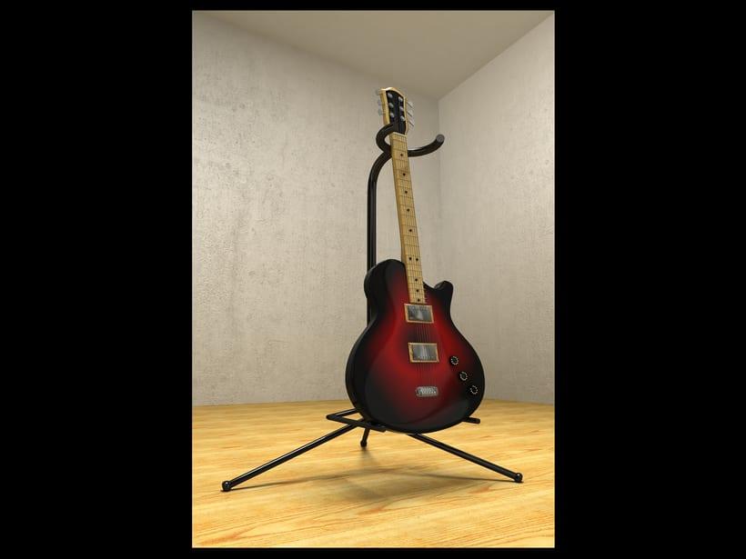 electric guitar - 3d model -1