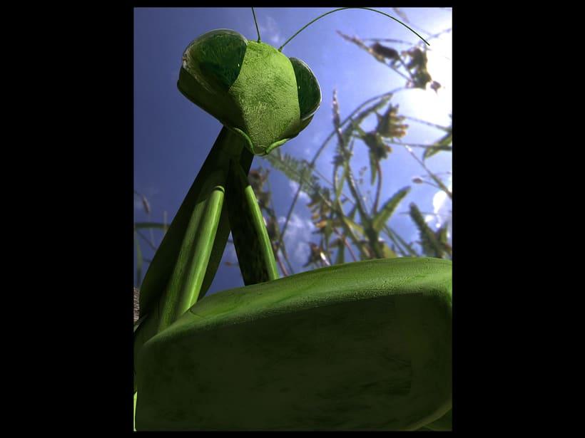 praying mantis - 3d model 0
