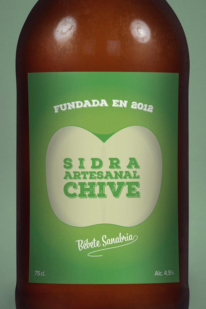 Etiqueta de Sidra Chive 2