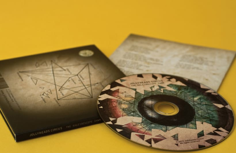 """CD Cover and Illustrated Book """" The Kaleidoscope dawn"""" 2"""