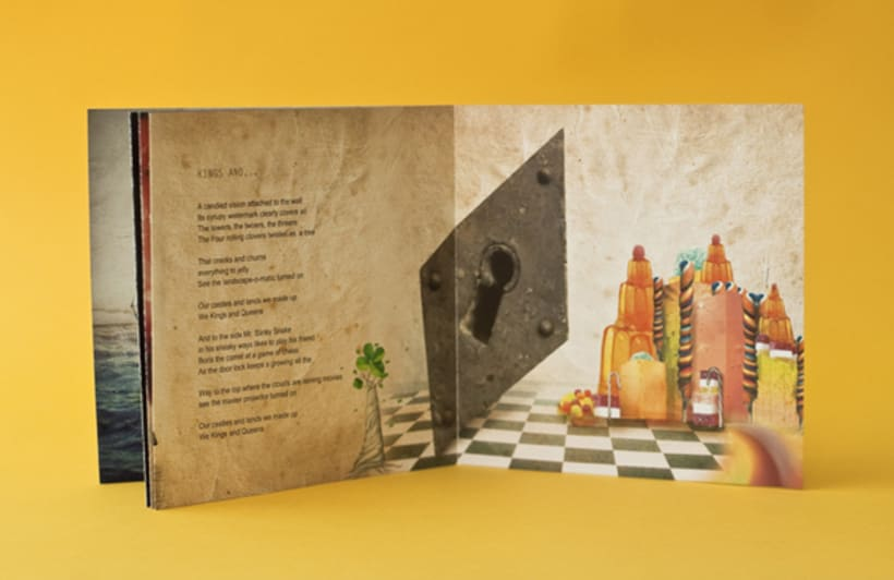 """CD Cover and Illustrated Book """" The Kaleidoscope dawn"""" 4"""