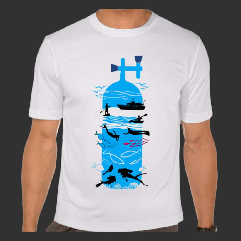 Diseño de camisetas: Buceo y multiaventura. 0