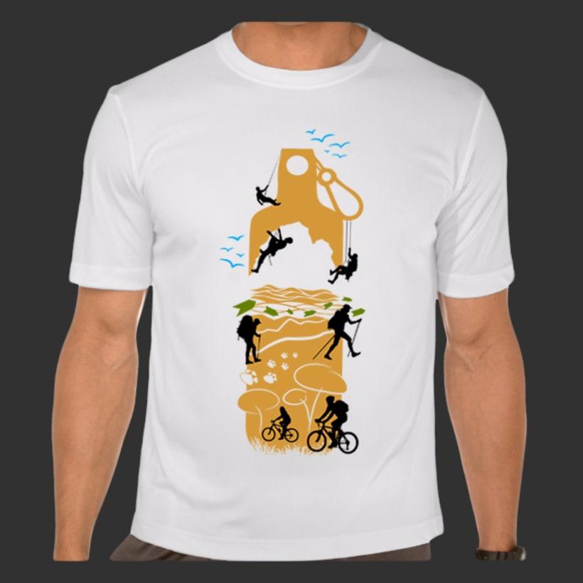 Diseño de camisetas: Buceo y multiaventura. 3