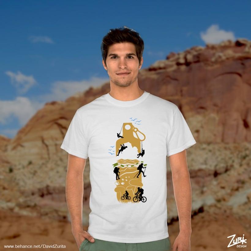 Diseño de camisetas: Buceo y multiaventura. 5