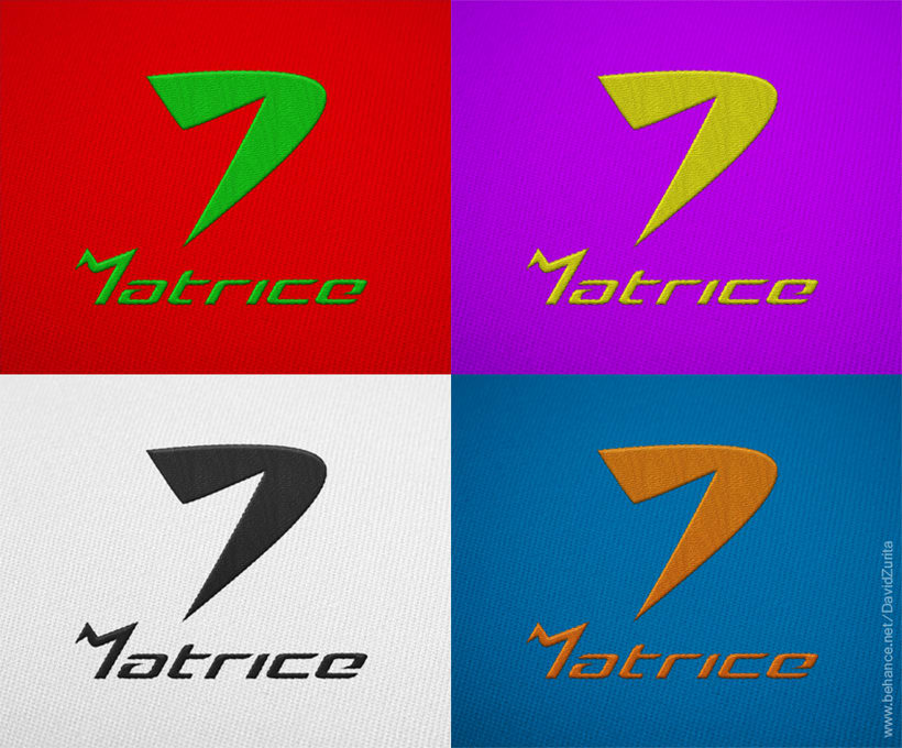 Logotipo de ropa deportiva: MATRICE. 8