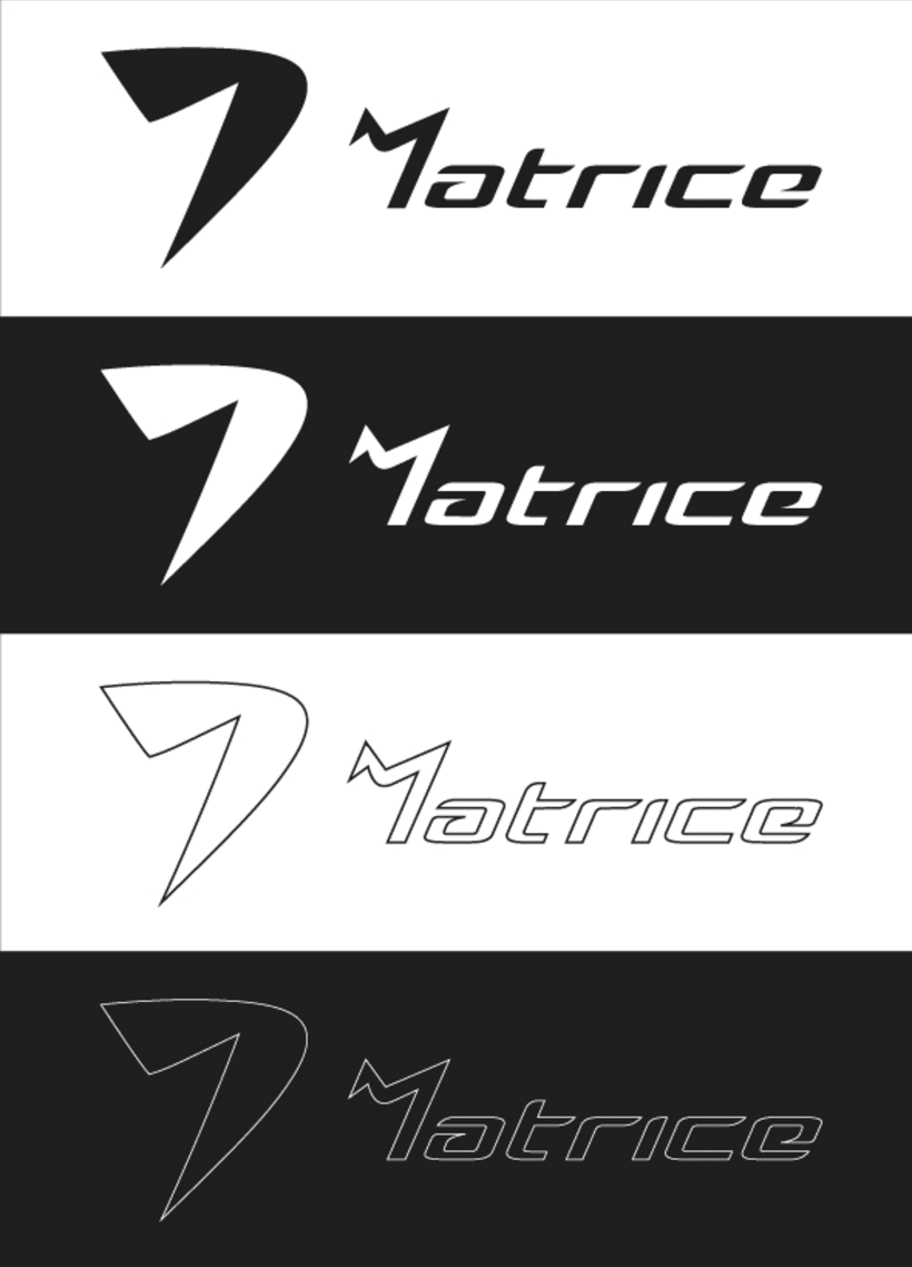 Logotipo de ropa deportiva: MATRICE. 3