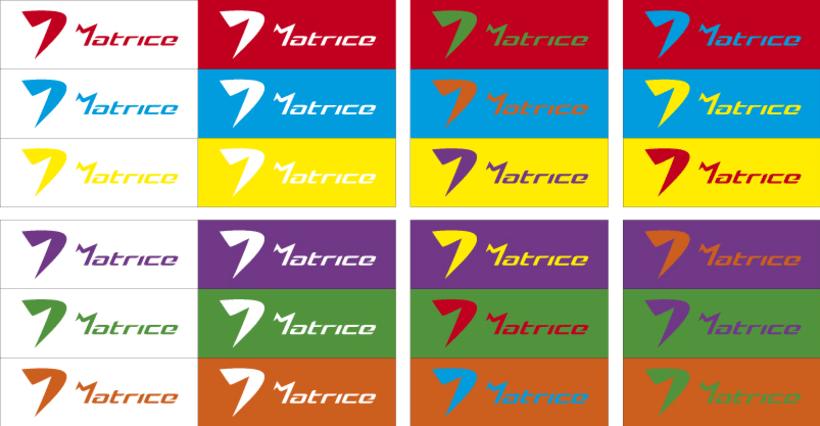 Logotipo de ropa deportiva: MATRICE. 5