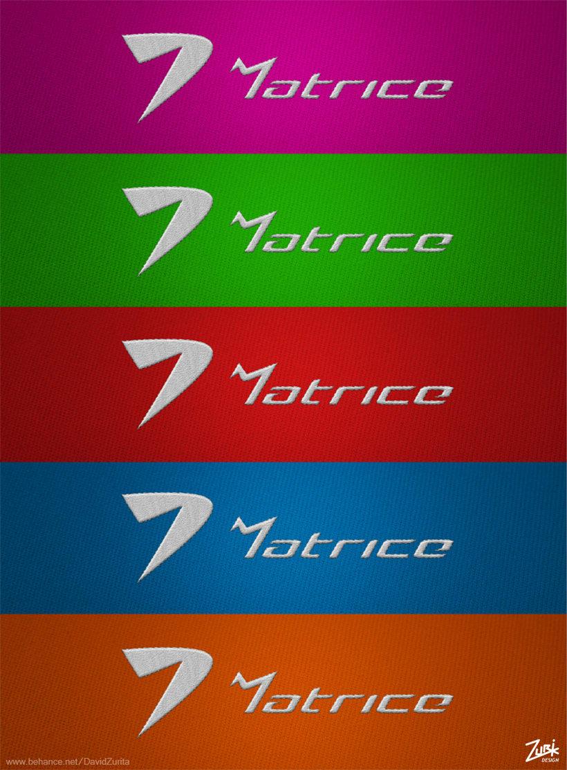 Logotipo de ropa deportiva: MATRICE. 4