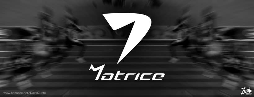 Logotipo de ropa deportiva: MATRICE. 6
