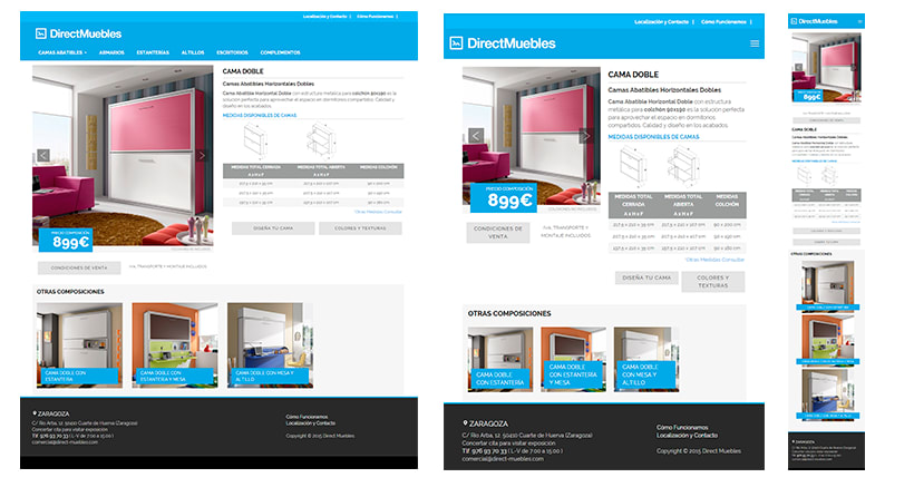 Direct Muebles - Responsive Design 1