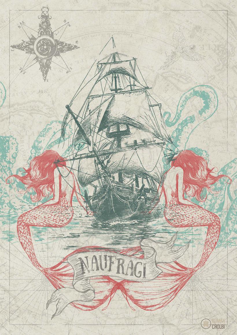 -NAUFRAGI- Ilustración inspirada por la música de Cleptòmans de Bancal 1
