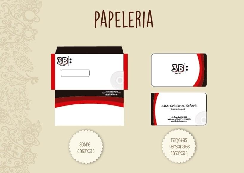 Nueva marca de Skate 3B diseño de papelería -1
