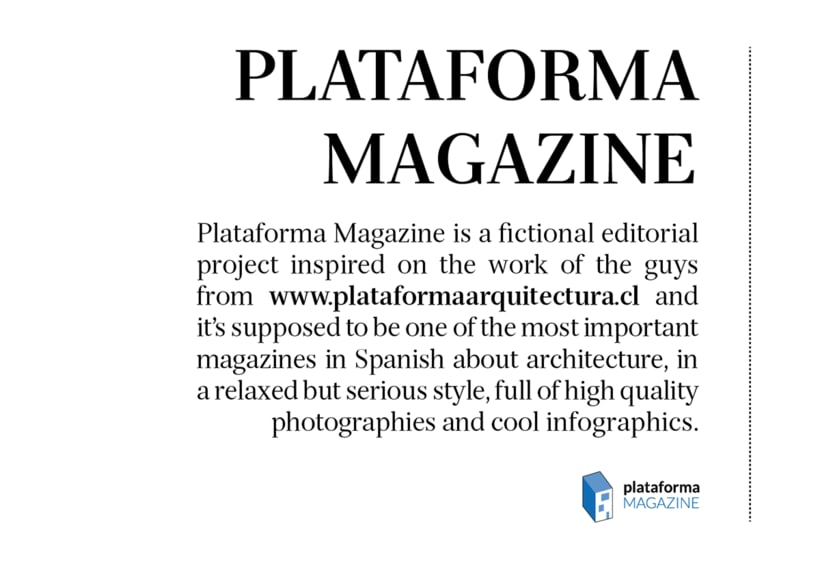PLATAFORMA MAGAZINE - Diseño Editorial 1