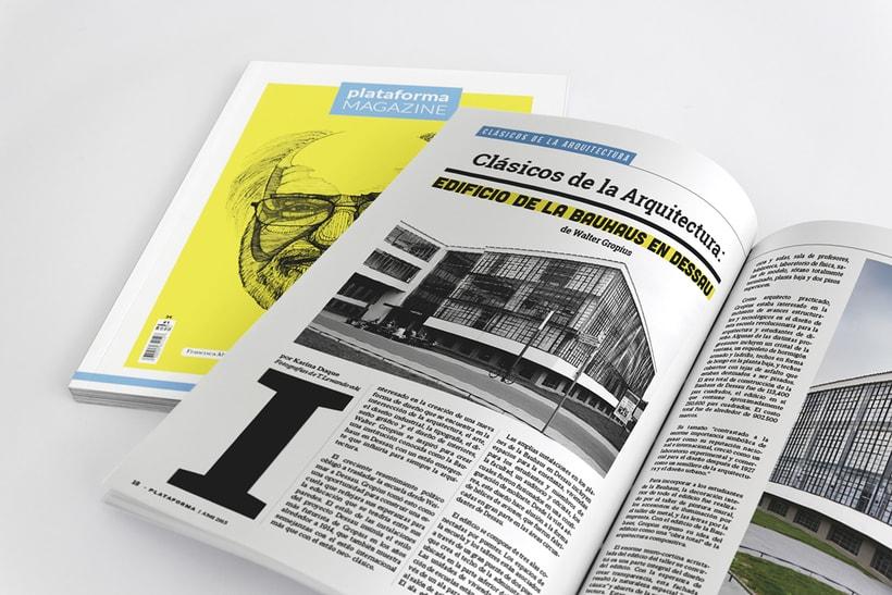 PLATAFORMA MAGAZINE - Diseño Editorial 12
