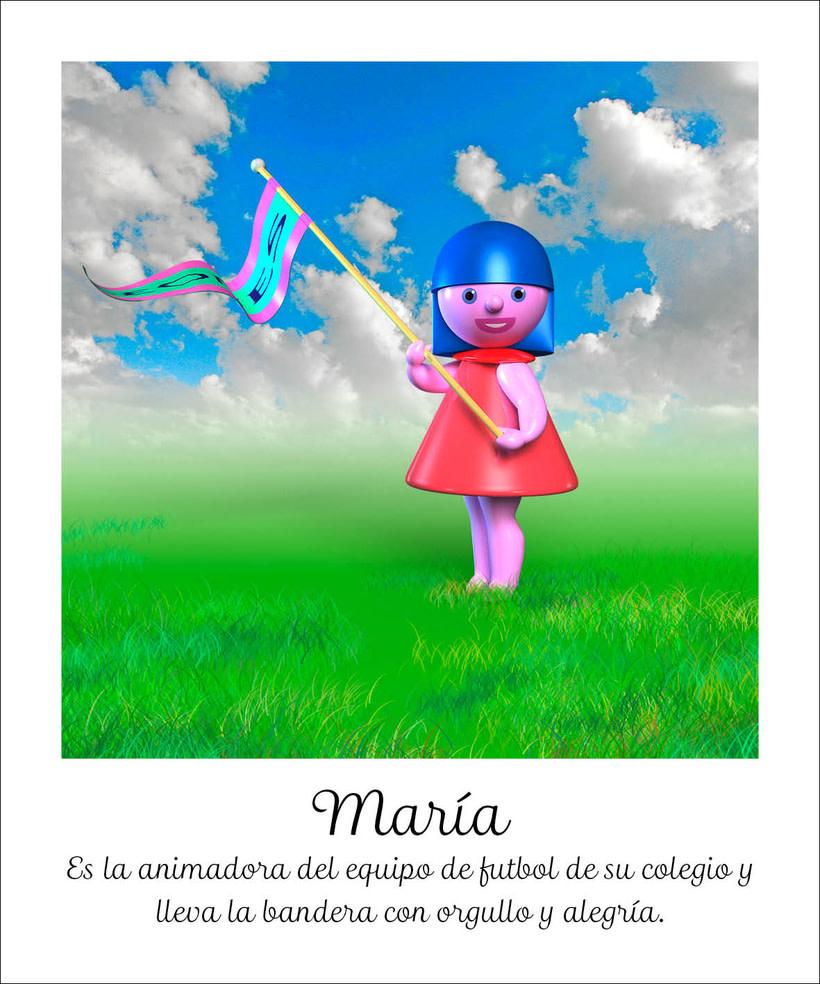 Ilustraciónes en 3D para el cuento María y Peny 0