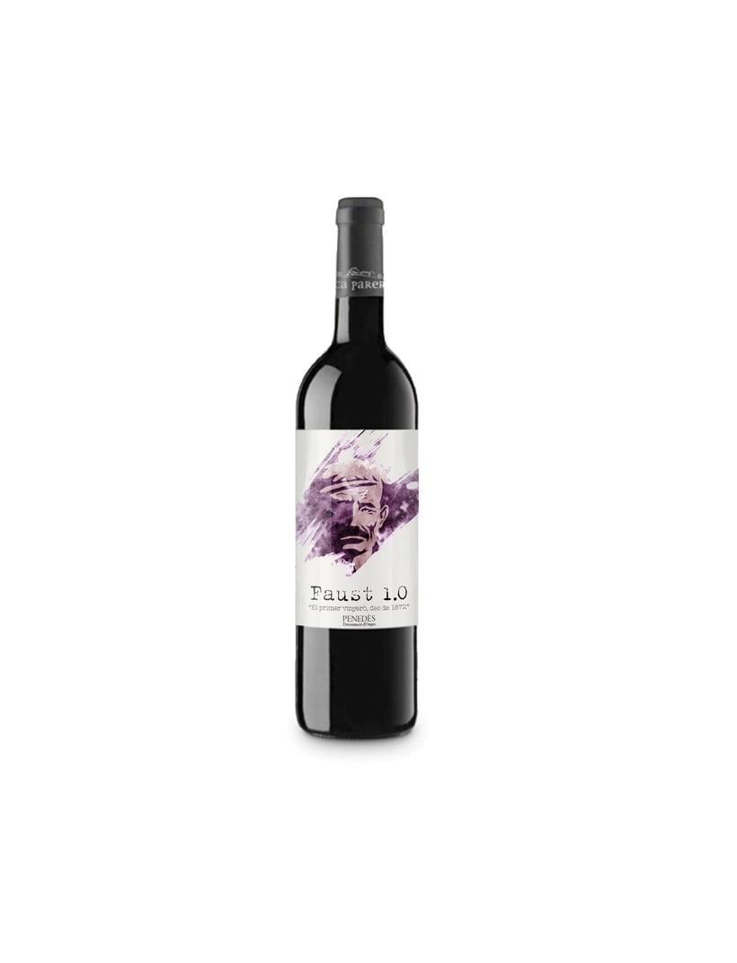 Etiqueta de vino Faust 1.0 2