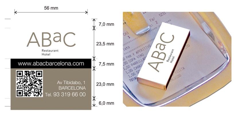 Cajas de Cerillas para Restaurante Abac 0