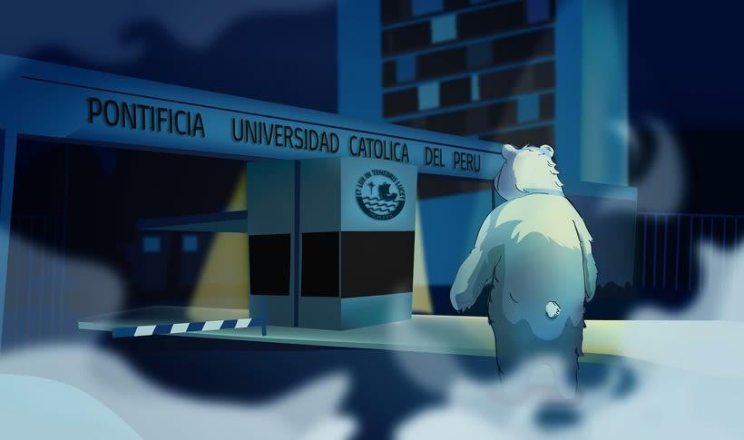 Oso Polar PUCP  (ilustración vectorial) 1