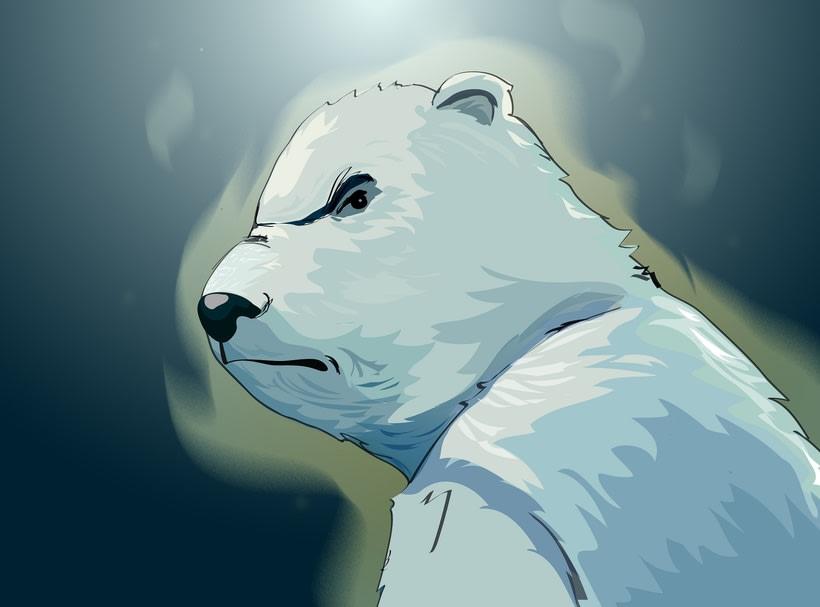 Oso Polar PUCP  (ilustración vectorial) 2