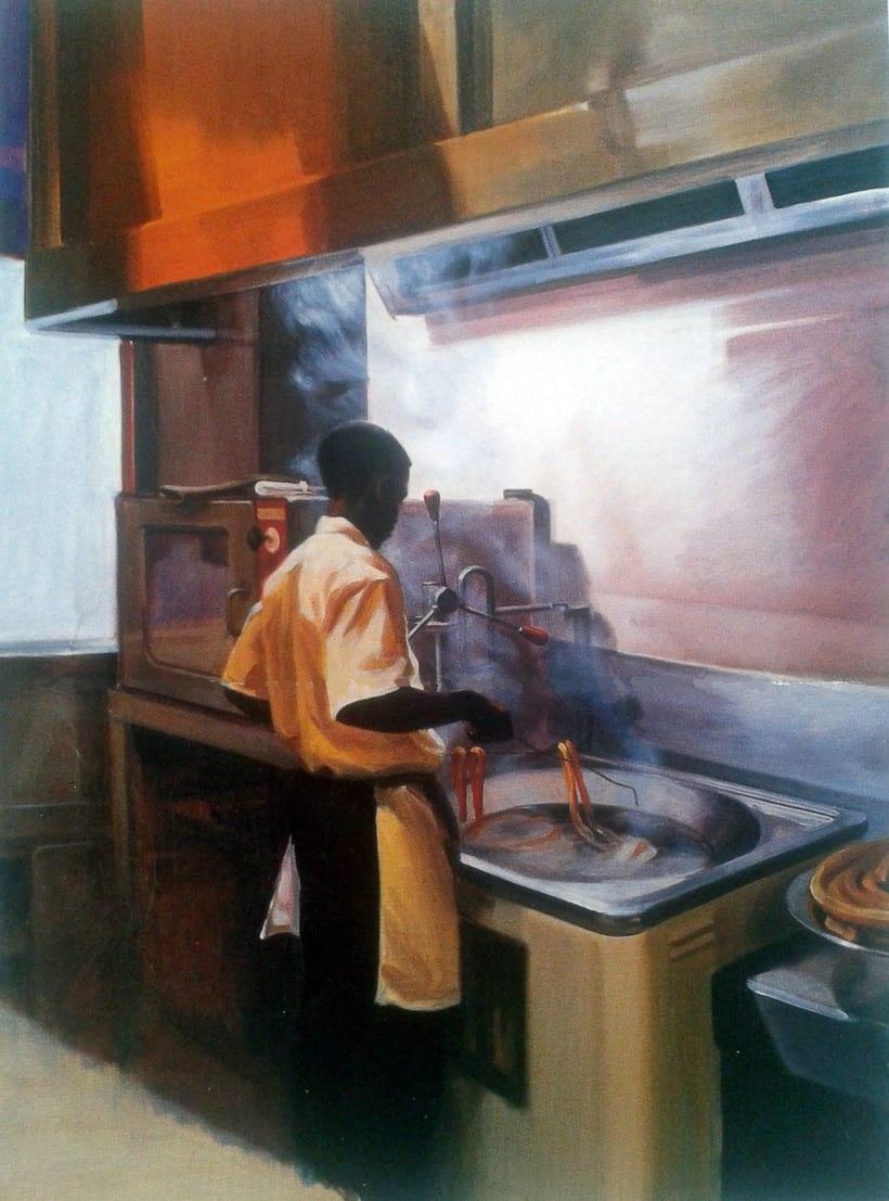 El churrero de Cuatro Caminos (oleo sobre lienzo) -1