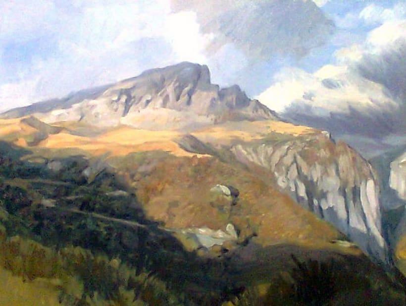 Paisaje del Pirineo (oleo sobre lienzo) -1