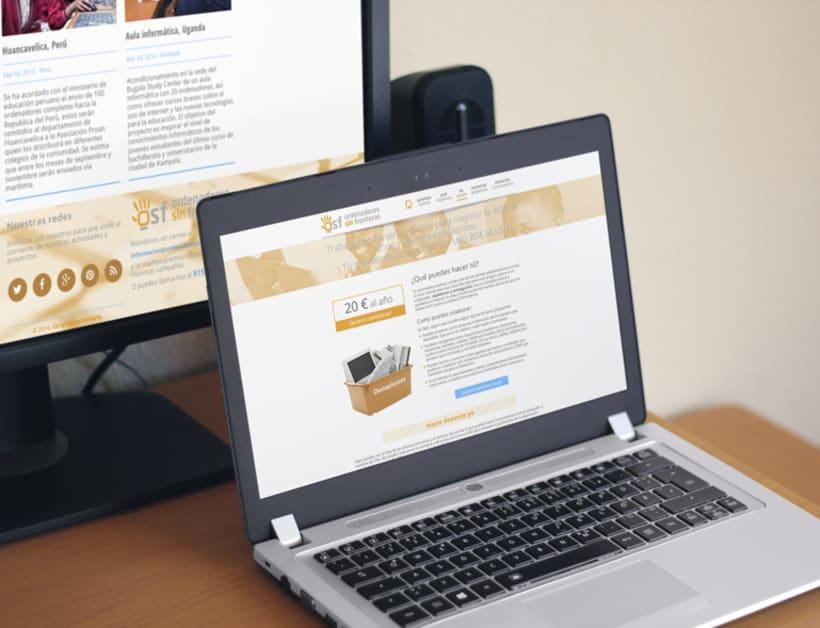 Página web para Ordenadores Sin Fronteras 0