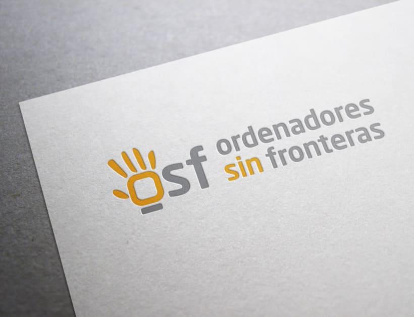 Identidad corporativa para Ordenadores Sin Fronteras 0