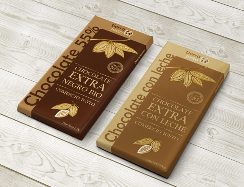Diseño de packaging para chocolate Tierra Justa -1