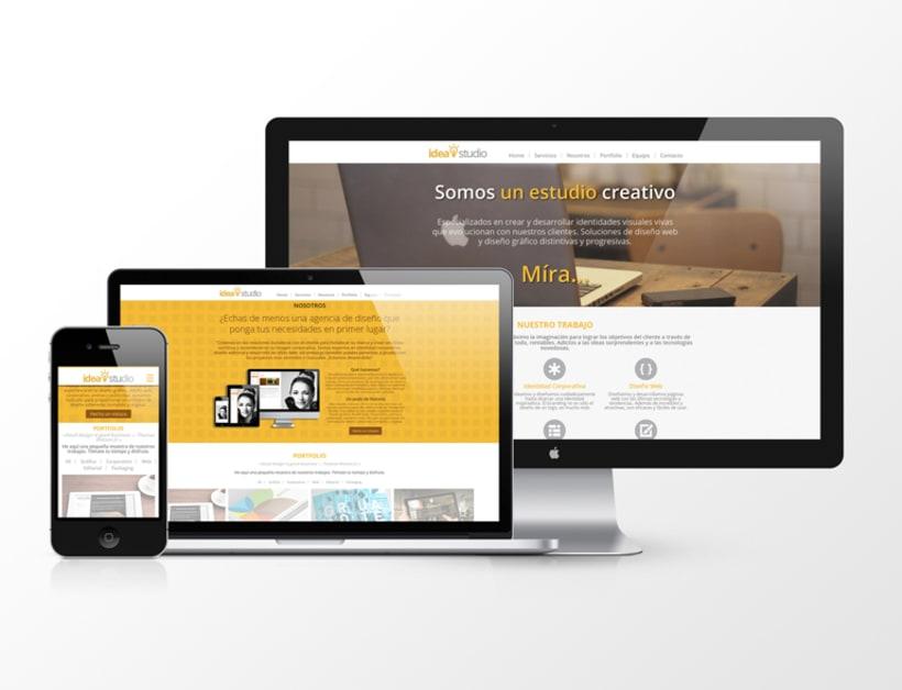 Diseño web para agencia IdeaStudio 0