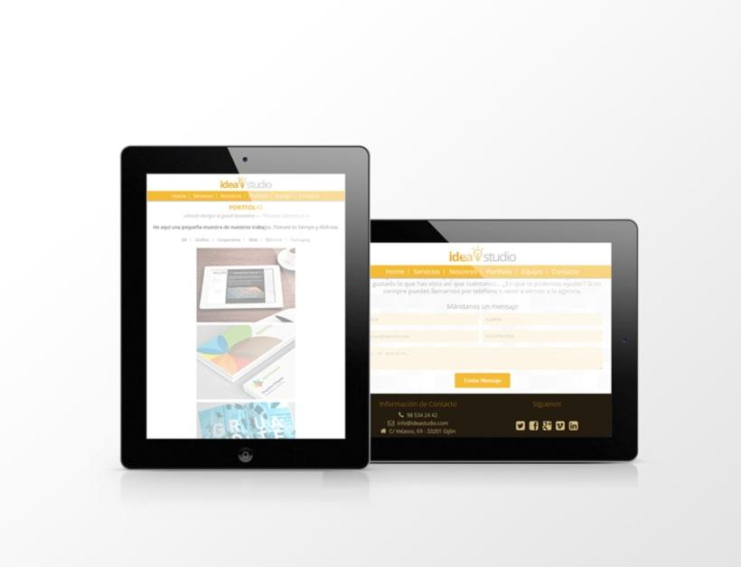 Diseño web para agencia IdeaStudio 1