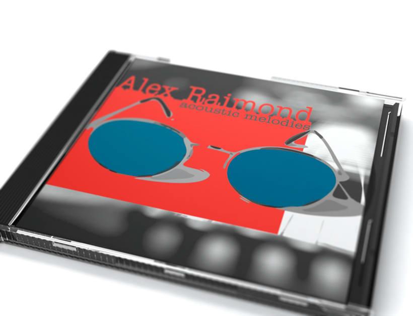 Portada y carátula del disco promocional de Alex Raimond 0