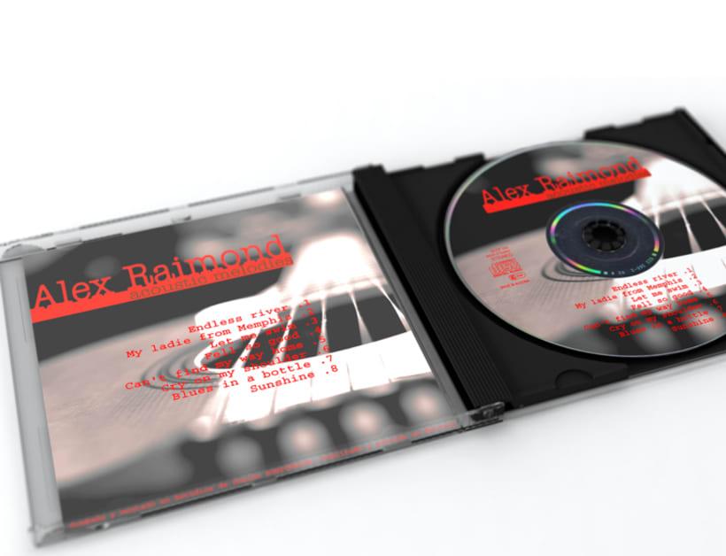 Portada y carátula del disco promocional de Alex Raimond 1