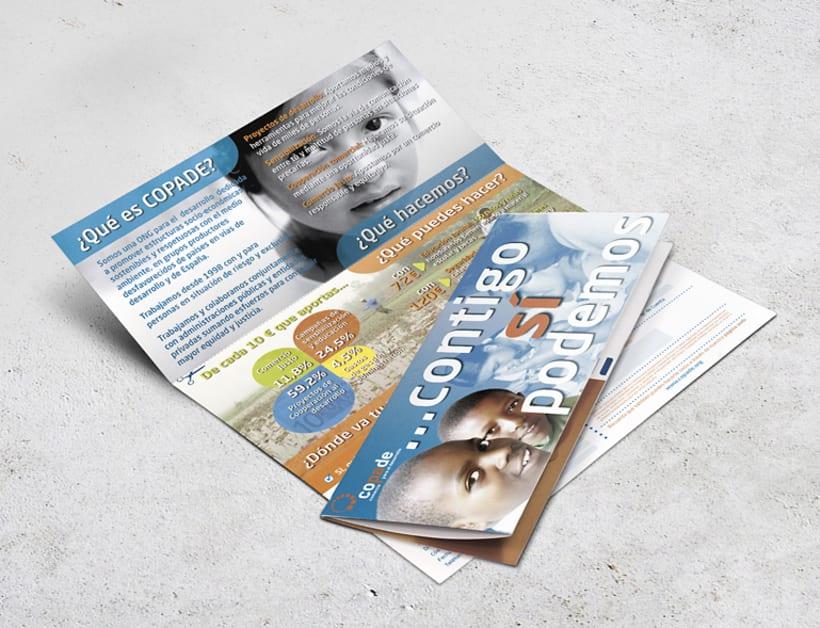 Triptico promocional para Fundación COPADE 0