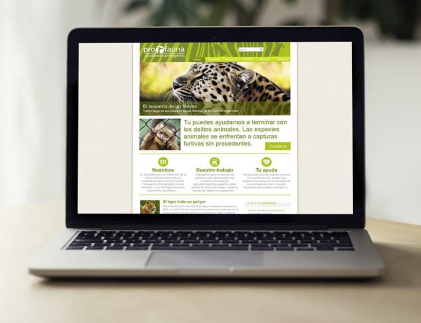 Página web de la organización Profauna 0