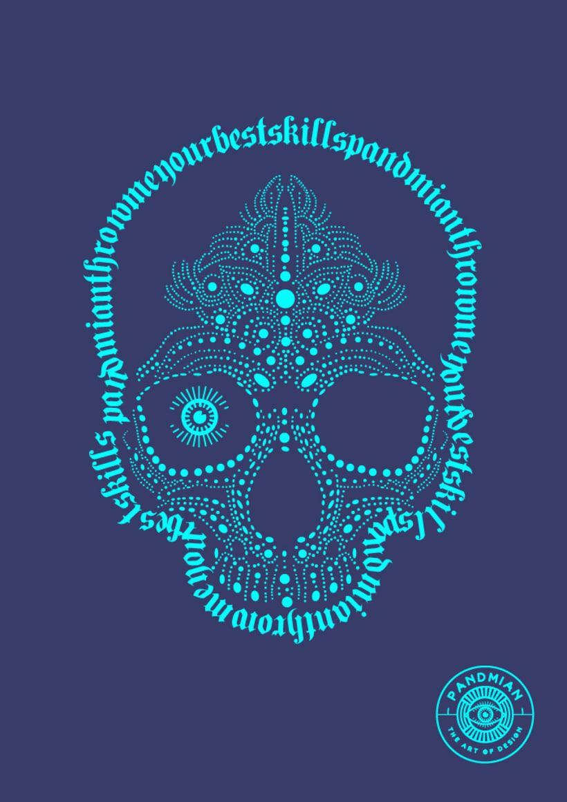 "Pandmian / T-shirt ""Skull Skill"" 1"