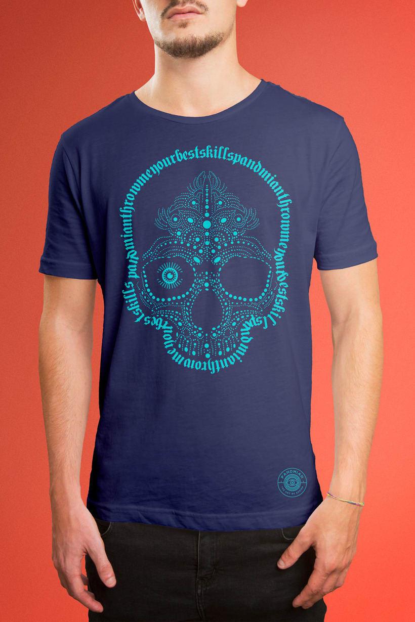 "Pandmian / T-shirt ""Skull Skill"" 0"