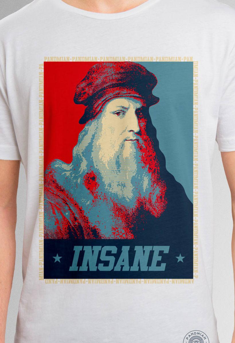 "Pandmian / T-shirt ""Da Vinci Insane"" 0"