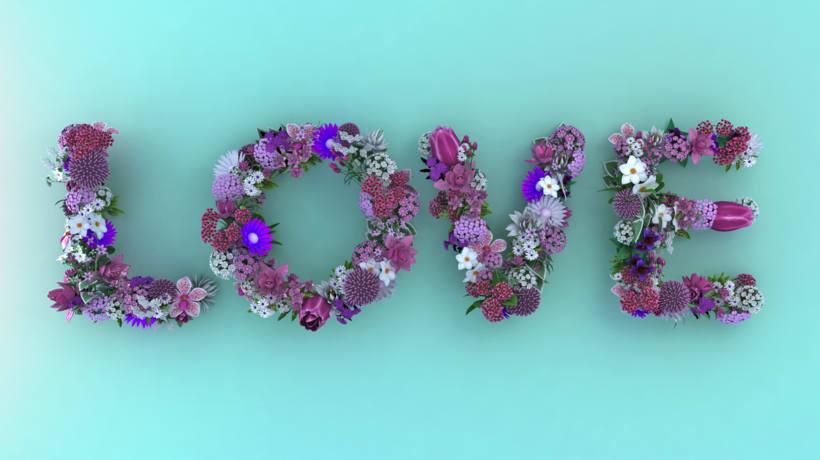 Love Flowers Typo 1