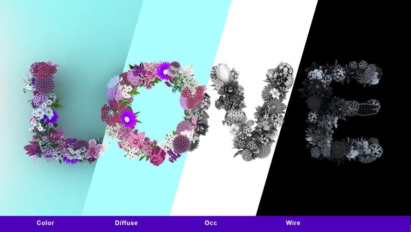 Love Flowers Typo 2