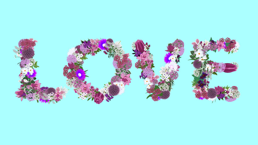 Love Flowers Typo 4