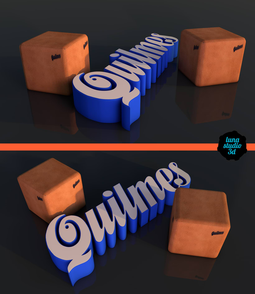 Diseño 3D - Puff Quilmes 0