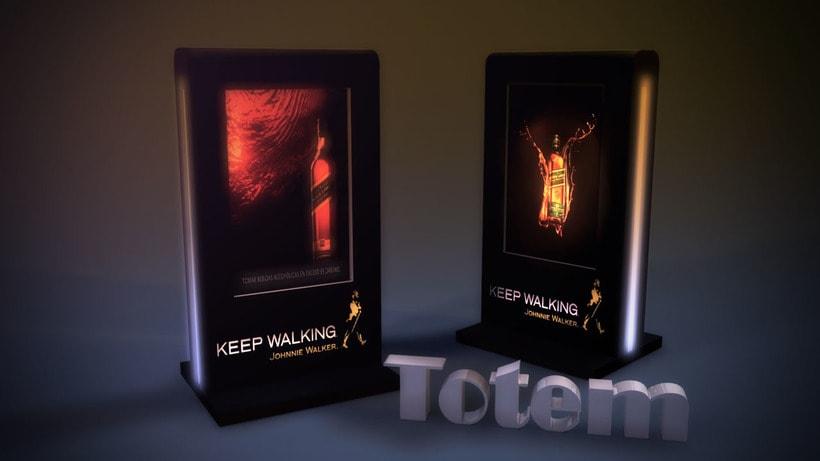 Totem 3D - Johnnie Walker  2