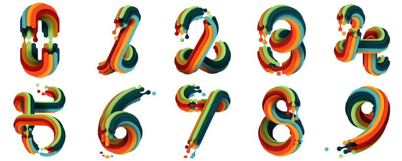 36 days of type / Numbers 1