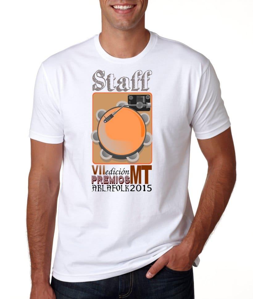 Camisetas para staff Premios MT 2015 1