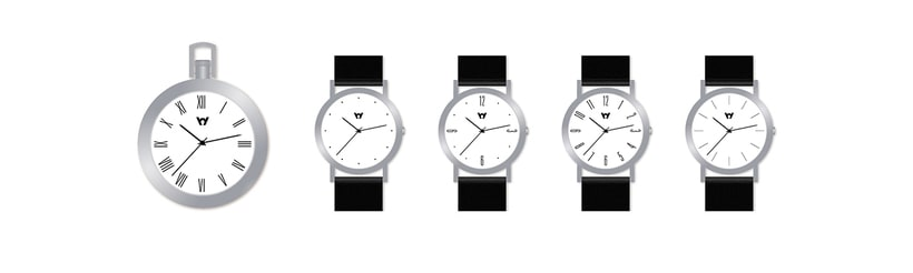 Watches collections & graphic & industrial materials 1
