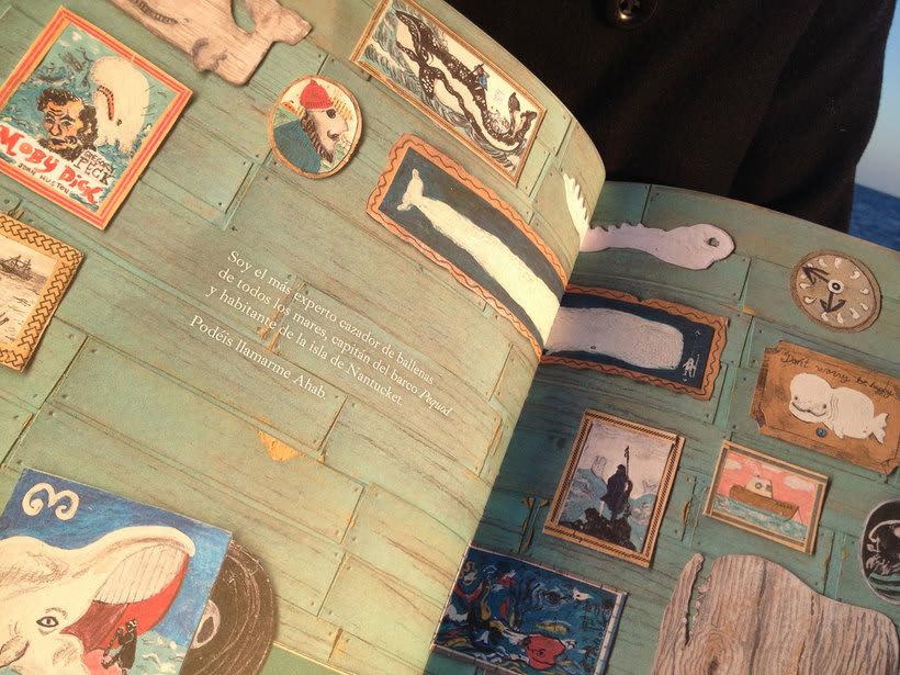 Ahab y la Ballena Blanca. Edelvives 2014. Libro-Álbum Infantil. 5
